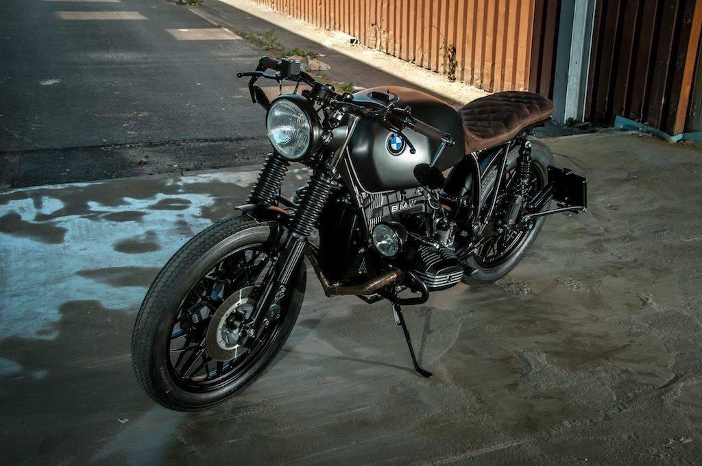 Komplettumbau des BMW R100 RT mit geändertem Heckrahmen, Bike in Oelde