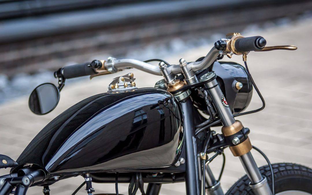glänzendes Design des Bikes - Umbau